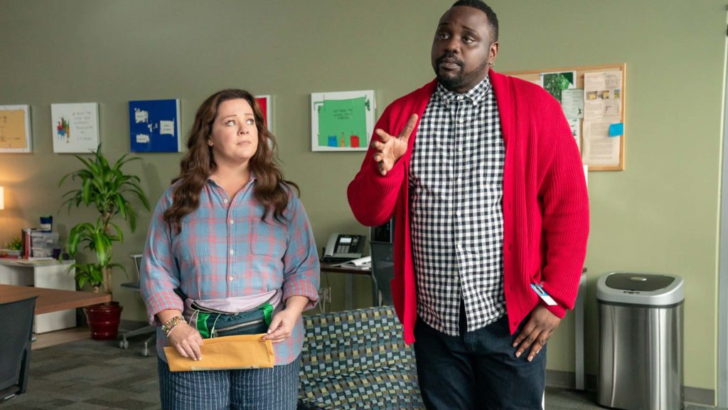 Melissa McCarthy as Carol Peters and Brian Tyree Henry as Dennis in Superintelligence, directed by Ben Falcone. Photo: Hopper Stone. Copyright: 2018 Warner Bros. Entertainment Inc. All Rights Reserved.