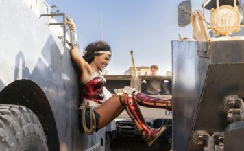 Gal Gadot as Wonder Woman in Wonder Woman 1984, directed by Patty Jenkins. Photo: Clay Enos. Copyright: 2018 Warner Bros. Entertainment Inc. All Rights Reserved.