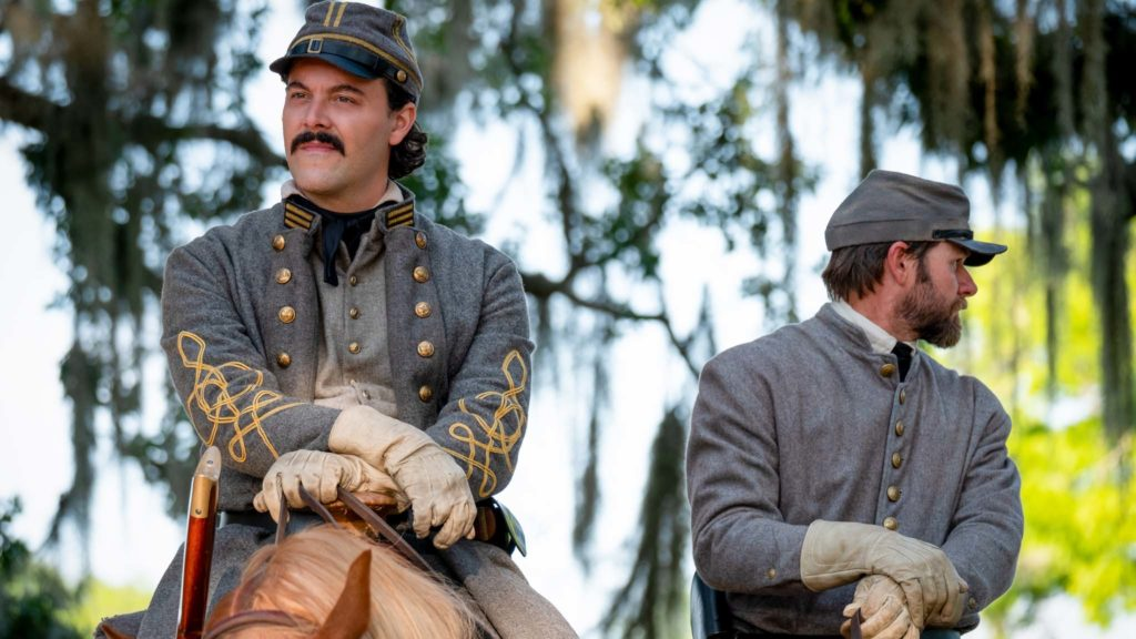 Jack Huston as Captain Jasper in Antebellum, directed by Gerard Bush and Christopher Renz. Photo: Matt Kennedy. Copyright: Lionsgate Films. All Rights Reserved.