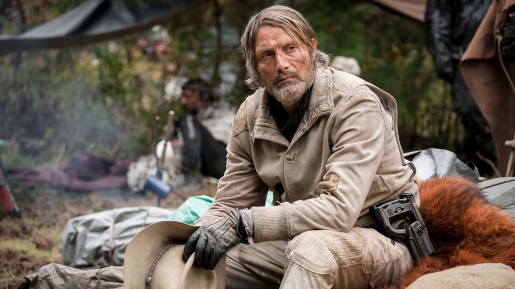 Mads Mikkelsen as David Prentiss as Viola Eade in Chaos Walking, directed by Doug Liman. Photo: Murray Close. Copyright: Lionsgate Films. All Rights Reserved.