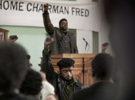 Daniel Kaluuya as chairman Fred Hampton and LaKeith Stanfield as Bill O'Neal in Judas And The Black Messiah, directed by Shaka King. Photo: Glen Wilson. Copyright: 2019 Warner Bros. Entertainment Inc. All Rights Reserved.