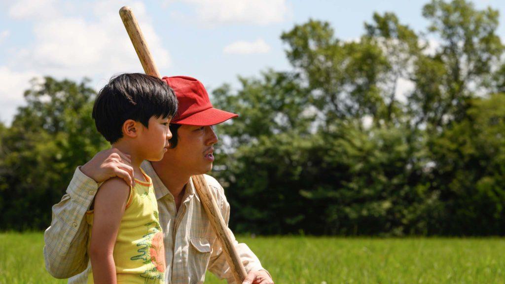 Alan S Kim as David Yi and Steven Yeun as Jacob Yi in Minari, directed by Lee Isaac Chung. Photo: Melissa Lukenbaugh. Copyright: A24. All Rights Reserved.