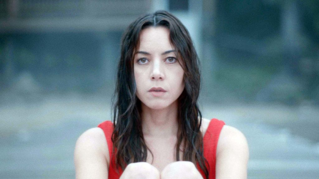 Aubrey Plaza as Allison in Black Bear, directed by Lawrence Michael Levine. Copyright: Vertigo Releasing. All Rights Reserved.