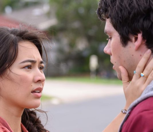 Jessica Henwick as Aimee and Dylan O'Brien as Joel Dawson in Love And Monsters, directed by Michael Matthews. Photo: Jasin Boland. Copyright: 2019 Paramount Players, a division of Paramount Pictures. All Rights Reserved.