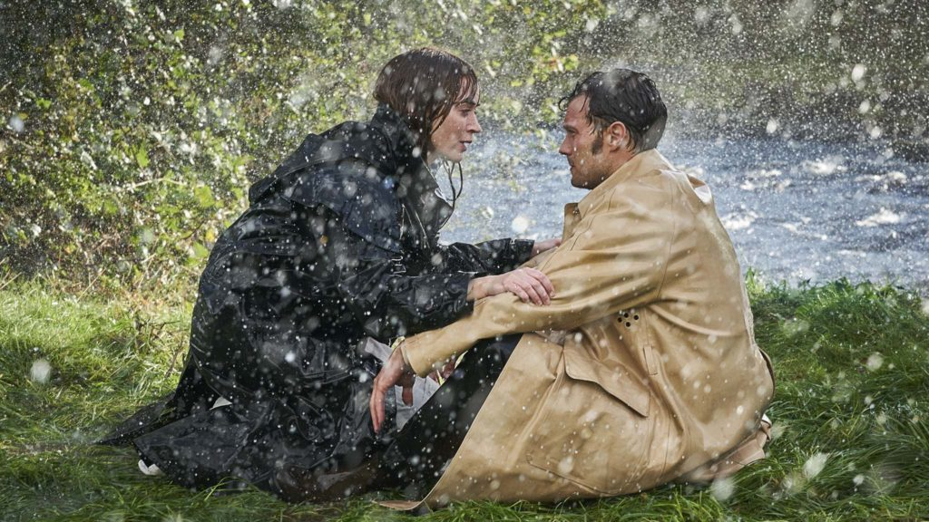 Emily Blunt as Rosemary and Jamie Dornan as Anthony in Wild Mountain Thyme, directed by John Patrick Shanley. Copyright: Lionsgate UK. All Rights Reserved.