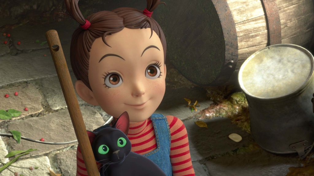 Earwig (voiced by Taylor Henderson) and Thomas the cat (Dan Stevens) in Earwig And The Witch, directed by Goro Miyazaki. Copyright: Elysian Film Group Distribution/Studio Ghibli. All Rights Reserved.