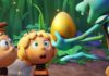 Willi (voiced by Benson Jack Anthony), Maya (Coco Jack Gillies) and Chomp (Tom Cossetini) in Maya The Bee The Golden Orb, directed by Noel Cleary. Copyright: Kaleidoscope Entertainment. All Rights Reserved.