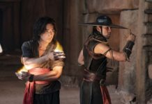 Ludi Lin as Liu Kang and Max Huang as Kung Lao in Mortal Kombat, directed by Simon McQuoid. Photo: Mark Rogers. Copyright: 2019 Warner Bros. Entertainment Inc. All Rights Reserved.