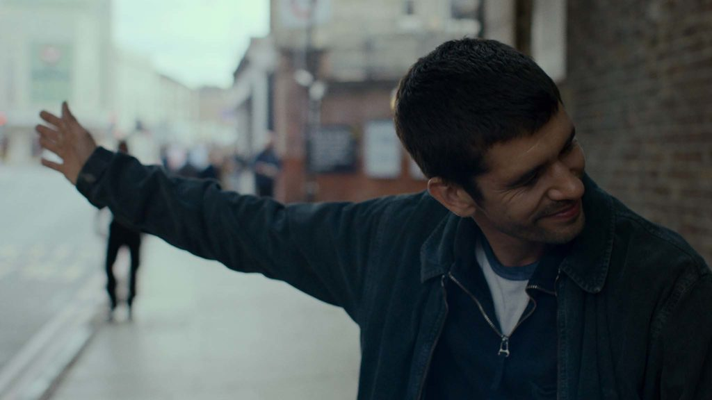Ben Whishaw as Joseph in Surge, directed by Aneil Karia. Copyright: Vertigo Releasing. All Rights Reserved.