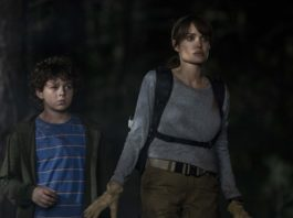 Finn Little as Connor and Angelina Jolie as Hannah in Those Who Wish Me Dead, directed by Taylor Sheridan. Photo: Emerson Miller. Copyright: 2019 Warner Bros. Entertainment Inc. All Rights Reserved.