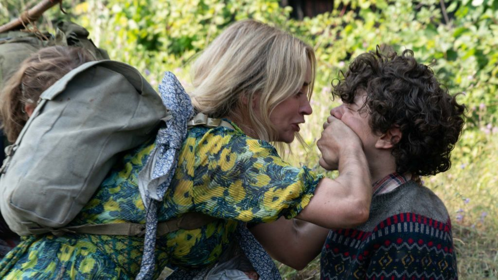 Emily Blunt as Evelyn and Noah Jupe as Marcus in A Quiet Place Part II, directed by John Krasinski. Photo: Jonny Cournoyer. Copyright: 2019 Paramount Pictures. All Rights Reserved.