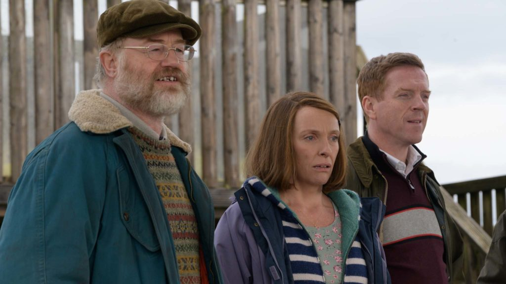 Owen Teale as Brian Vokes, Toni Collette as Jan Vokes and Damian Lewis as Howard Davies in Dream Horse, directed by Euros Lyn. Photo: Warren Orchard. Copyright: Warner Bros. Entertainment Inc. All Rights Reserved.
