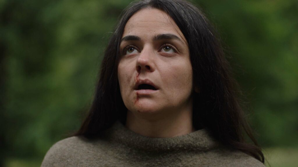 Hayley Squires as Olivia Wendle in In The Earth, directed by Ben Wheatley. Copyright: Universal Pictures. All Rights Reserved.