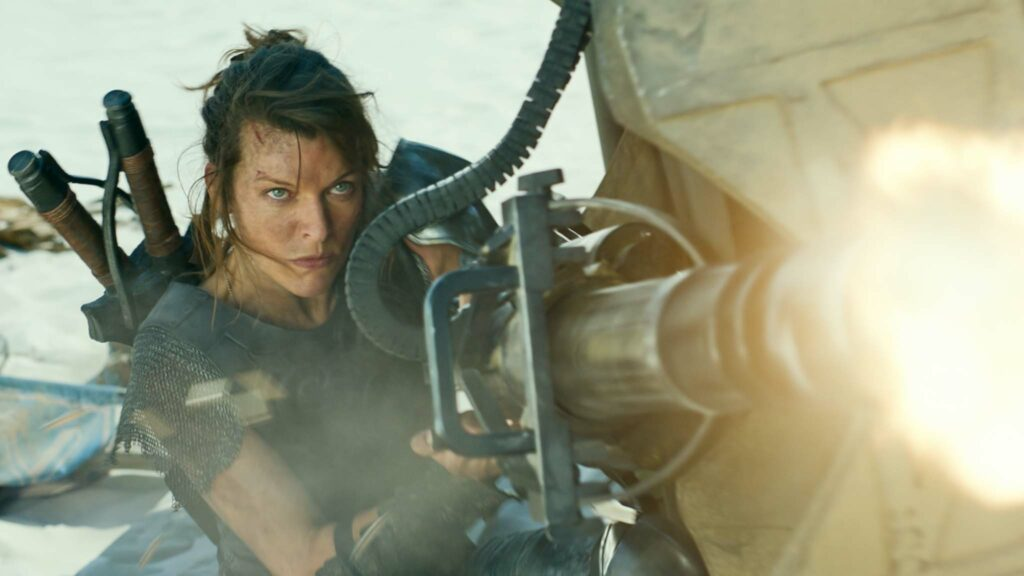 Milla Jovovich as Natalie Artemis in Monster Hunter, directed by Paul WS Anderson. Copyright: Constantin Film Verleih GmbH/Sony Pictures Releasing. All Rights Reserved.
