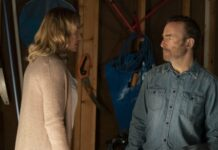 Connie Nielsen as Becca Mansell and Bob Odenkirk as Hutch Mansell in Nobody, directed by Ilya Naishuller. Photo: Allen Fraser. Copyright: 2021 Universal Studios. All Rights Reserved.