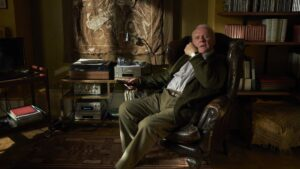 Sir Anthony Hopkins as Anthony in The Father, directed by Florian Zeller. Photo: Sean Gleason. Copyright: Lionsgate Films. All Rights Reserved.