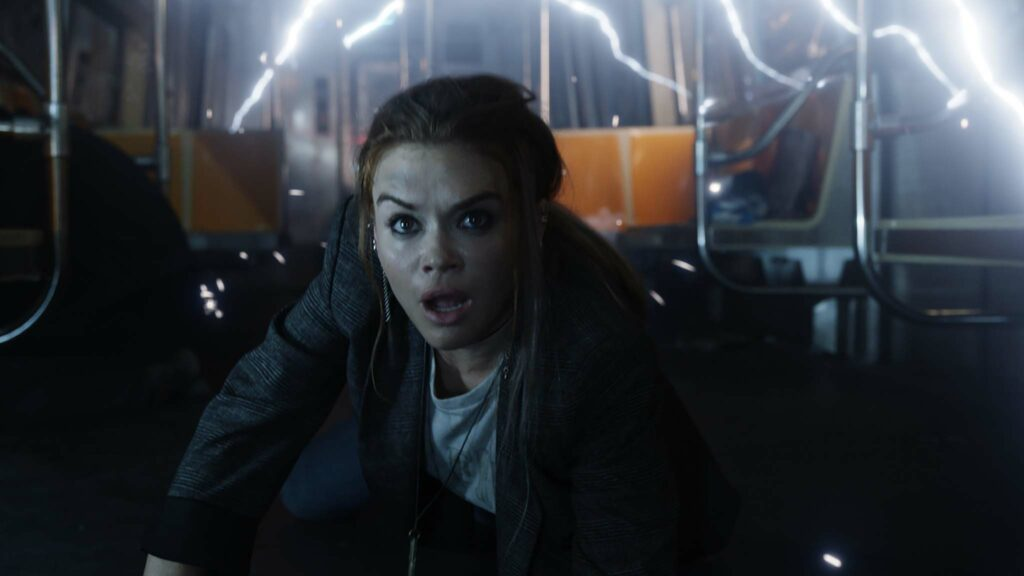 Holland Roden as Rachel in Escape Room: Tournament Of Champions, directed by Adam Robitel. Copyright: 2021 CTMG, Inc. All Rights Reserved.