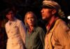 Jack Whitehall as MacGregor Houghton, Emily Blunt as Lily Houghton and Dwayne Johnson as Frank Wolff in Jungle Cruise, directed by Jaume Collet-Serra. Copyright: 2020 Disney Enterprises, Inc. All Rights Reserved.