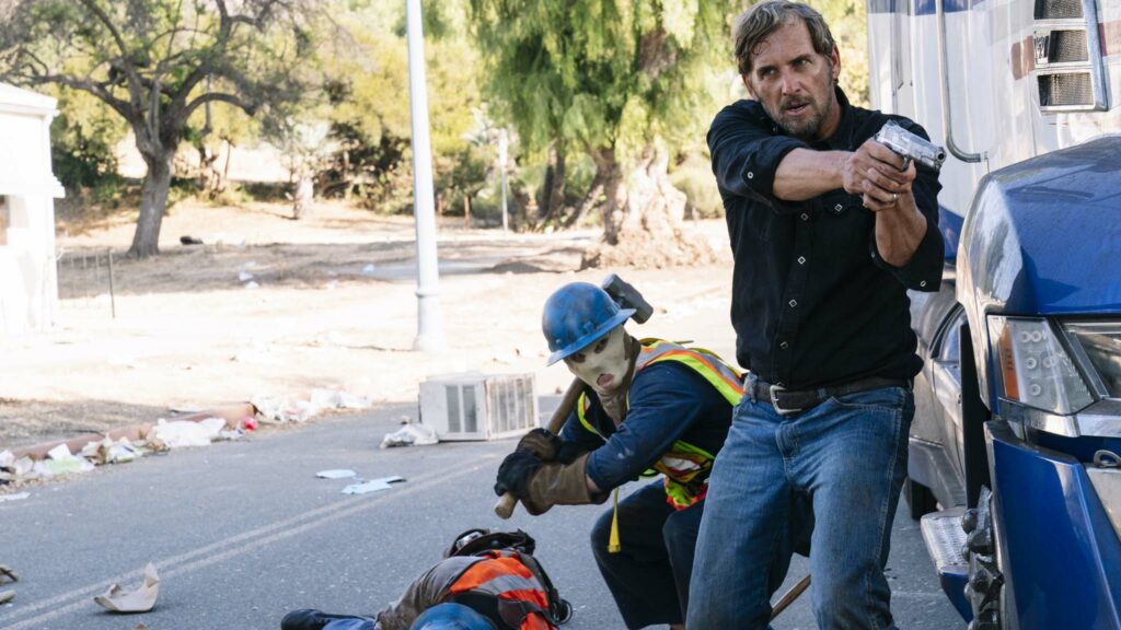 Josh Lucas as Dylan Tucker in The Forever Purge, directed by Everardo Valerio Gout. Photo: Jake Giles Netter. Copyright: 2021 Universal Studios. All Rights Reserved.