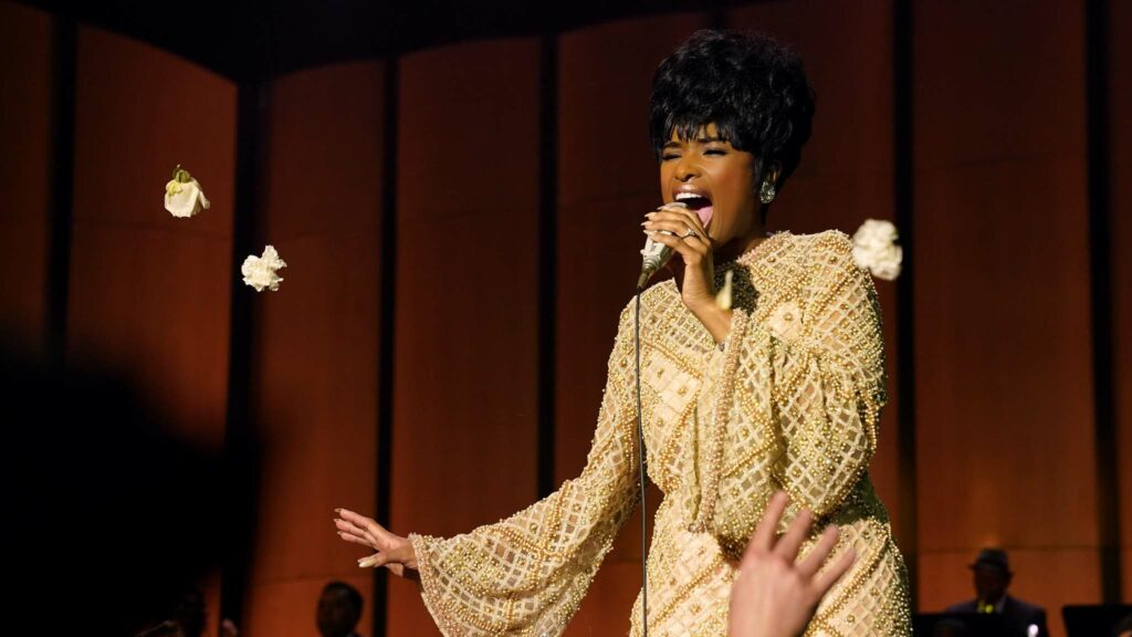 Jennifer Hudson as Aretha Franklin in Respect, directed by Liesl Tommy. Photo: Quantrell D Colbert. Copyright: 2020 Metro-Goldwyn-Mayer Pictures Inc. All Rights Reserved.