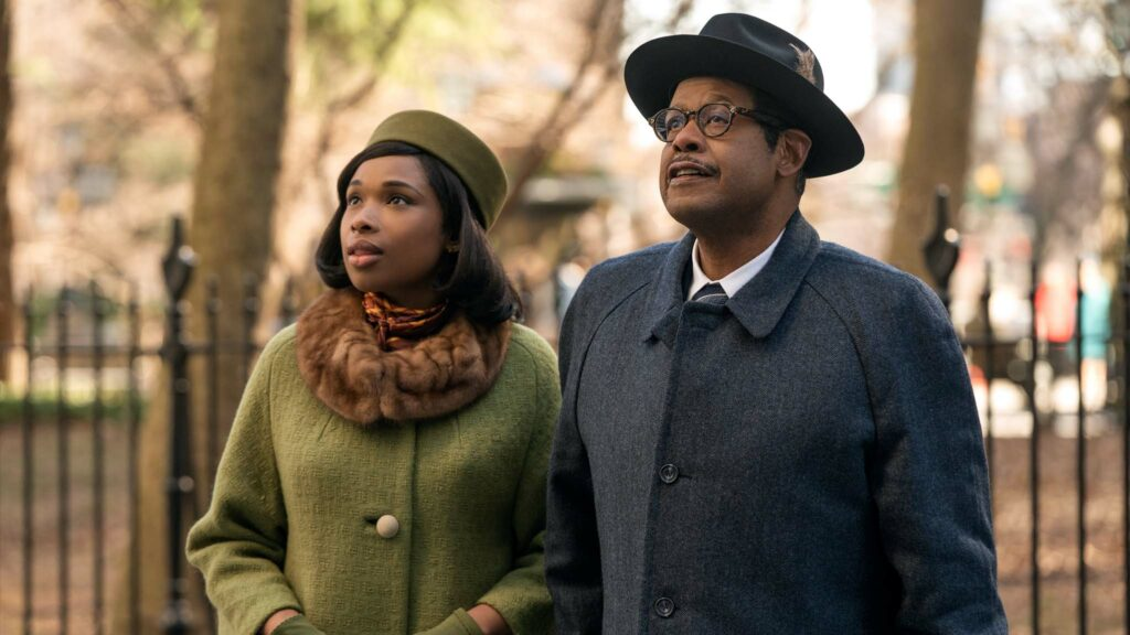 Jennifer Hudson as Aretha Franklin and Forest Whitaker as CL Franklin in Respect, directed by Liesl Tommy. Photo: Quantrell D Colbert. Copyright: 2020 Metro-Goldwyn-Mayer Pictures Inc. All Rights Reserved.