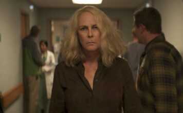 Jamie Lee Curtis as Laurie Strode in Halloween Kills, directed by David Gordon Green. Copyright: 2021 Universal Studios. All Rights Reserved.